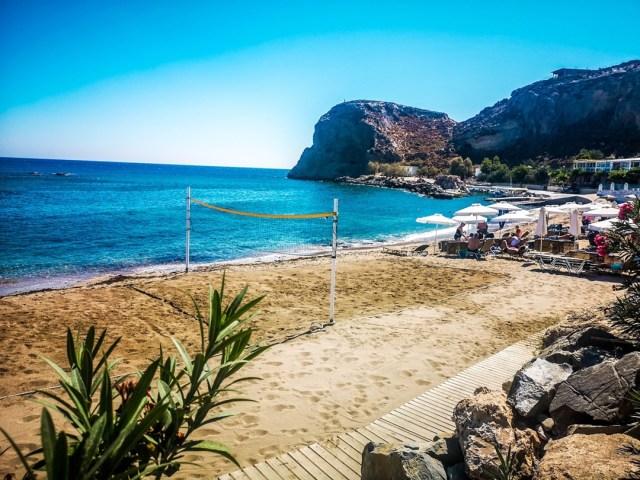 Grande Blue Beach in Island Rodos, Greece