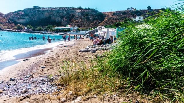 Grande Blue Beach in Rodos, Greece