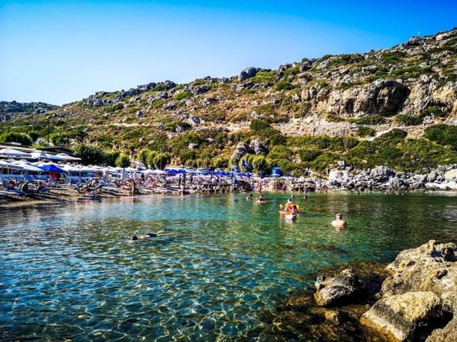 Ladiko Beach in Rodos, Greece
