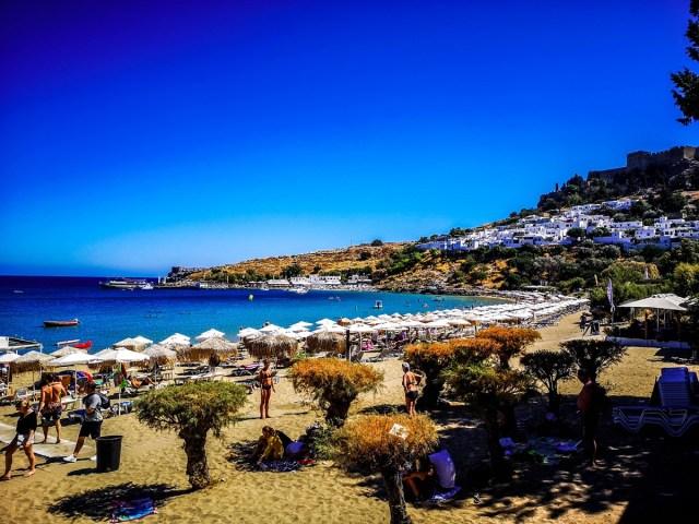Lindos Beach in Rodos Island