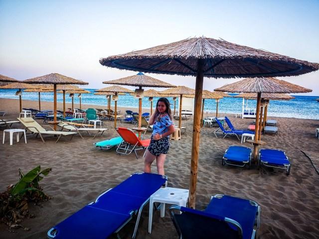Lorys blog at great beach at Tsambika, Rodos