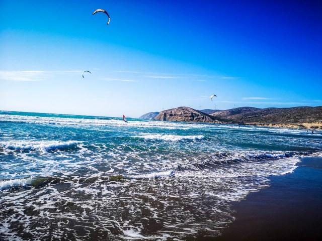 Mediteranean Sea At Prasonisi, Rodos - windsurf