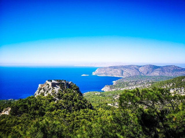 Monolithos Castle View in Rodos, Greece