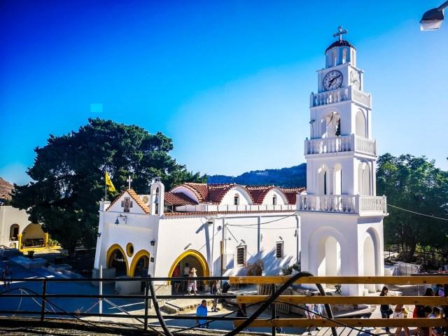 biserica noua din Tsambika, Rodos, Grecia