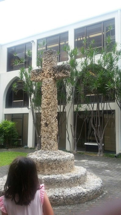 Priory coral cross