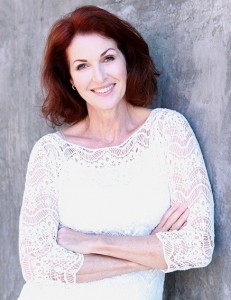 Lorelei Shellist, Los Angeles Image and Fashion Consultant wearing white crocheted top