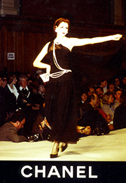Lorelei Shellist, Los Angeles Fashion Consultant modeling Chanel in the 80s