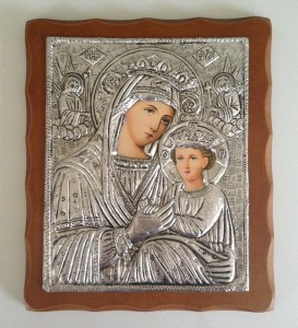 Byzantine Madonna Icon Art