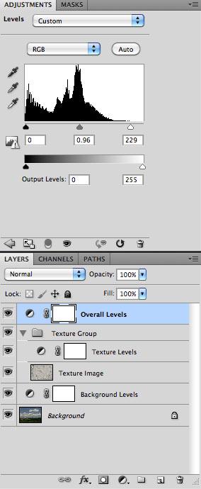 Overall Levels Adjustment - Screen Capture