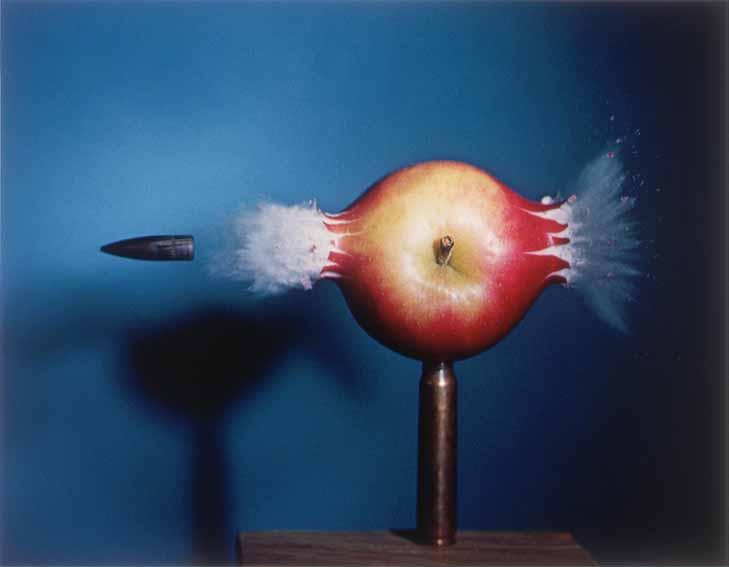 Harold Edgerton's Bullet Exploding Through an Apple