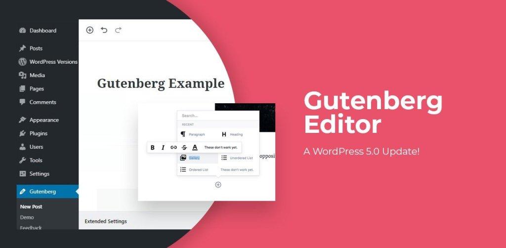 gutenberg new wordpress plugin