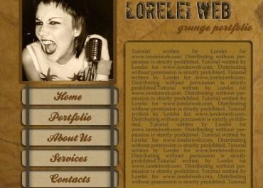 Design A Professional Art Grunge Web Layout - web layout Lorelei Web Design