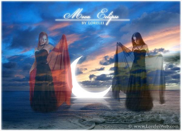 Fantasy Art Photoshop Tutorial: AWESOME Sinking Moon Eclipse - glow Lorelei Web Design