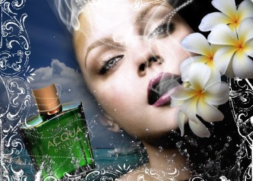 Design a Stunning French Perfume Advert Poster - face Lorelei Web Design