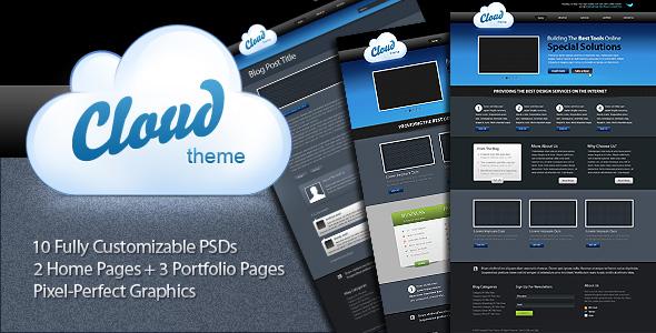 Download a Full 10 Pages PSD Template - Premium Downloads Lorelei Web Design