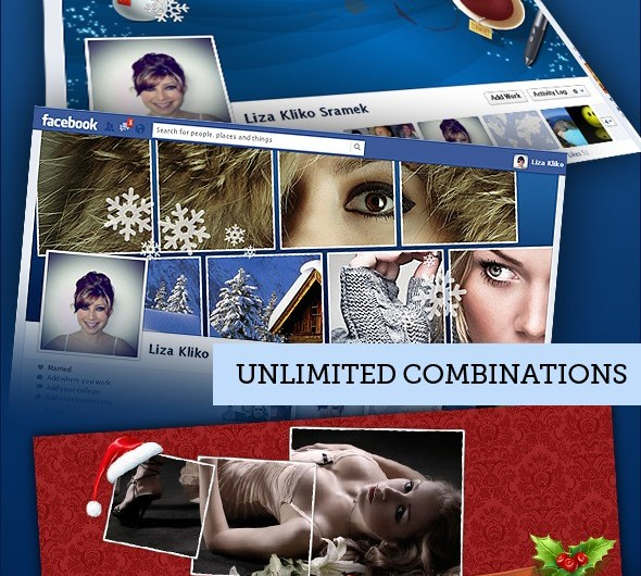 Download 5 Fully Editable Facebook Covers - Xmas Edition - Premium Downloads Lorelei Web Design