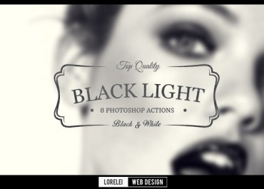 "Download 8 ""Black Light"" Photoshop Actions That Will Change Your Perspective - Premium Photoshop Actions Lorelei Web Design"