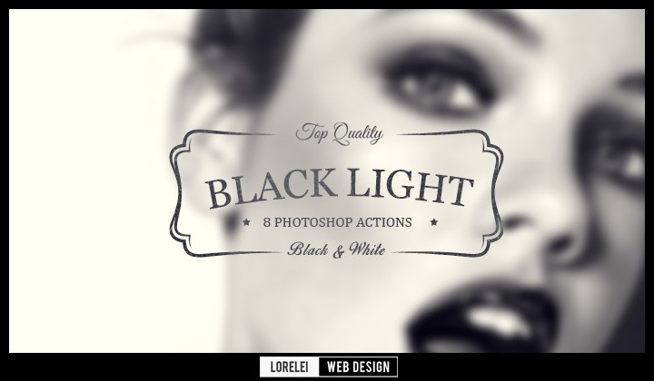 "Download 8 ""Black Light"" Photoshop Actions That Will Change Your Perspective - Photoshop Actions Lorelei Web Design"