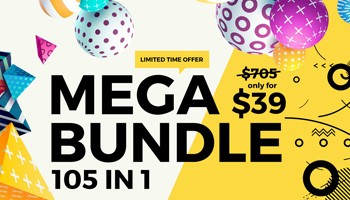 Bundle of Bundles - 105 Awesome Products in 1 Mega Bundle - Premium Downloads Lorelei Web Design