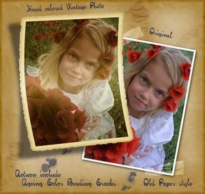 Vintage Frame Photo Effect Action - Photoshop Resources Lorelei Web Design