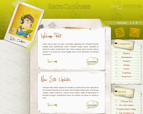 Coolretro in 40 Free High-Quality WordPress Themes