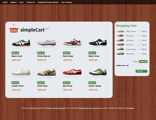 Simplecart in 40 Free High-Quality WordPress Themes