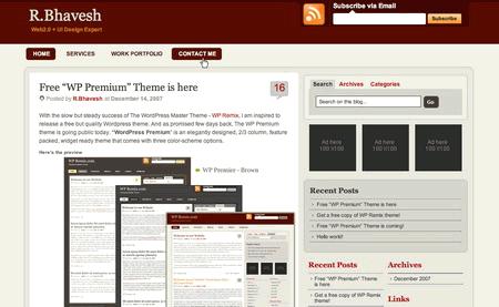 Wppremium in 100 Excellent Free WordPress Themes
