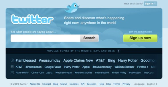 old twitter page design