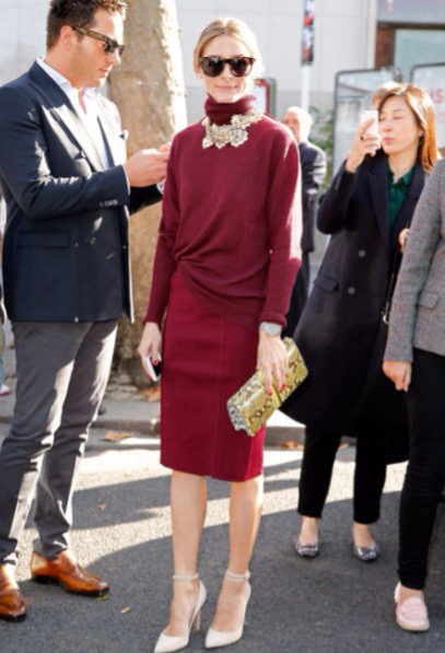 olivia palermo style in paris fashion week.