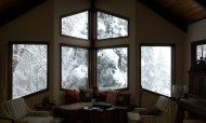 the view out the living room window of snow - VanFossen home