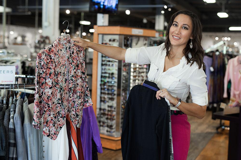 Loren North, clothing stylist
