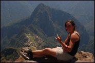 photo op on top of Machu Picchu