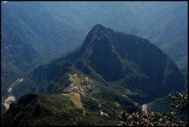 view on top of Machu Picchu mountain