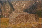 ceremonial rock near the caretaker hut