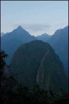 Putucusi mountain view from the Machu Picchu