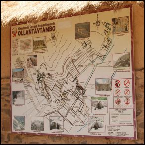plan du site d'ollantaytambo / map of the site in Ollantaytambo