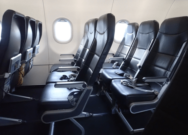 Viva Air's seats are thin and spartan, but comfortable for the short routes the airline flies.