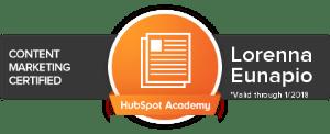 Certificação Marketing de Conteúdo Hubspot