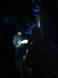 John Martini by flashlight