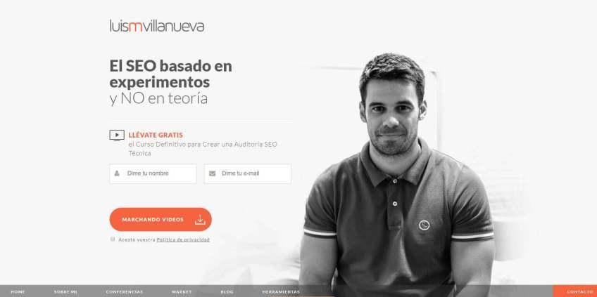 Luis Villanueva web.JPG 1 - Las webs de los 20 especialistas en posicionamiento SEO más importantes de España 🏆