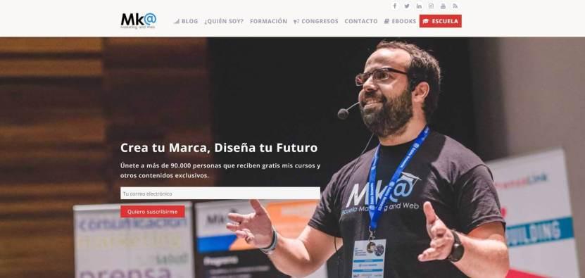 Miguel Florido web.JPG 1 - Las webs de los 20 especialistas en posicionamiento SEO más importantes de España 🏆