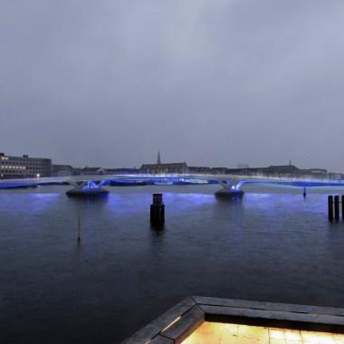 Copenhagen Harbour Bridge - Evening view from the theater