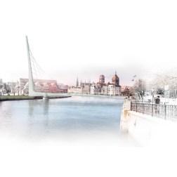 Gdansk Footbridge - Boat view
