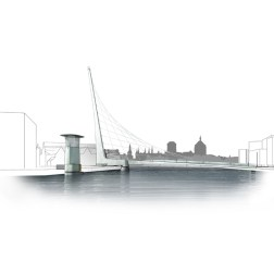 Gdansk Footbridge - Bridge in closed position