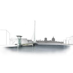 Gdansk Footbridge - Bridge in open position