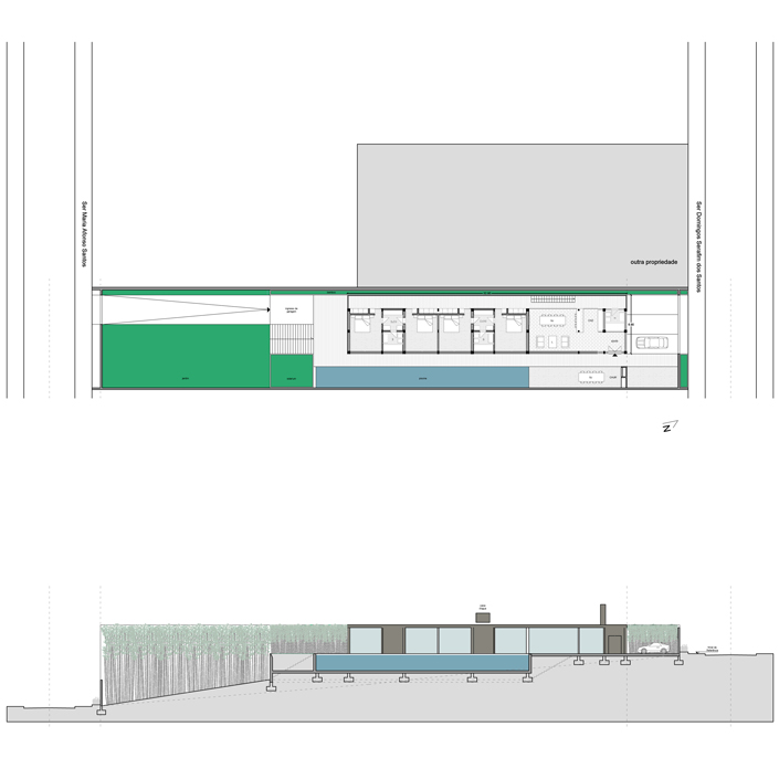 House in Santinho - Plan and Elevation