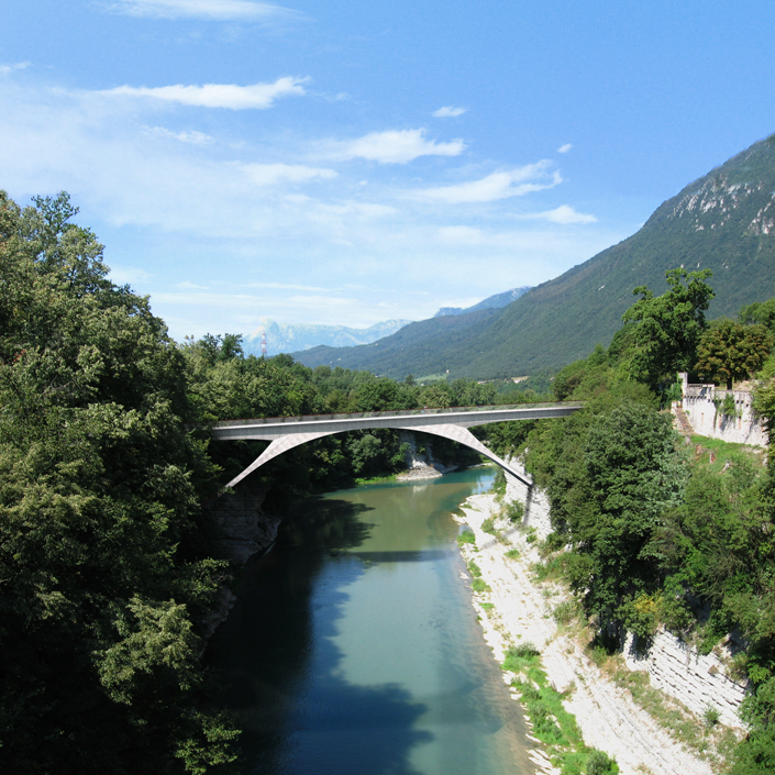 Piave River Footbridge - View from the existing bridge