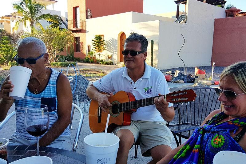 Pedro entertains in Loreto Bay, Mexico