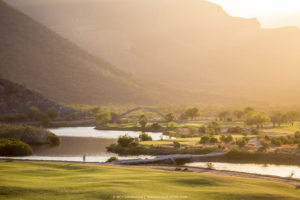 The Loreto Bay golf course weaves through the community along the water.