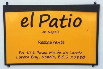 el Patio restaurant in Loreto Bay, Mexico